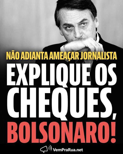 Presidente Jair Bolsonaro, qual o motivo do Queiroz e sua esposa terem depositado R$ 89 mil na conta da Michelle Bolsonaro?