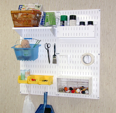 Metal Pegboard Craft Station