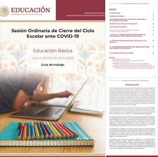 CTE Guía de trabajo Sesión Ordinaria de Cierre del Ciclo. Escolar ante COVID-19