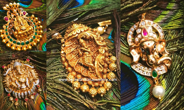 4 Different Ganesh Pendant Designs
