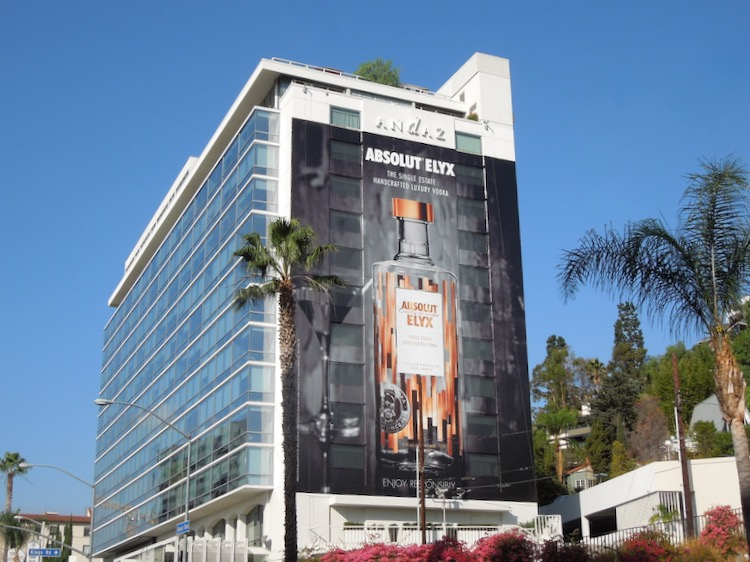 Giant Absolut Elyx Vodka 2014 billboard