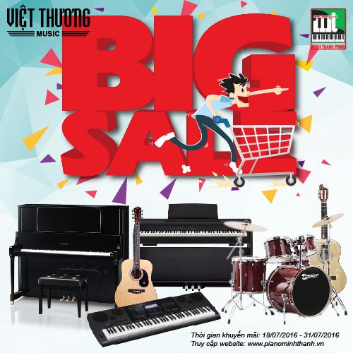 Giảm giá đàn 30% các dòng đàn piano cơ, điện và đàn organ Tại Minh Thanh