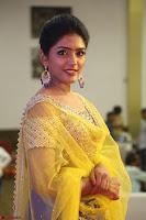 Actress Eesha in Yellow Choli Blue Ghagra at Darshakudu music launch 012.JPG