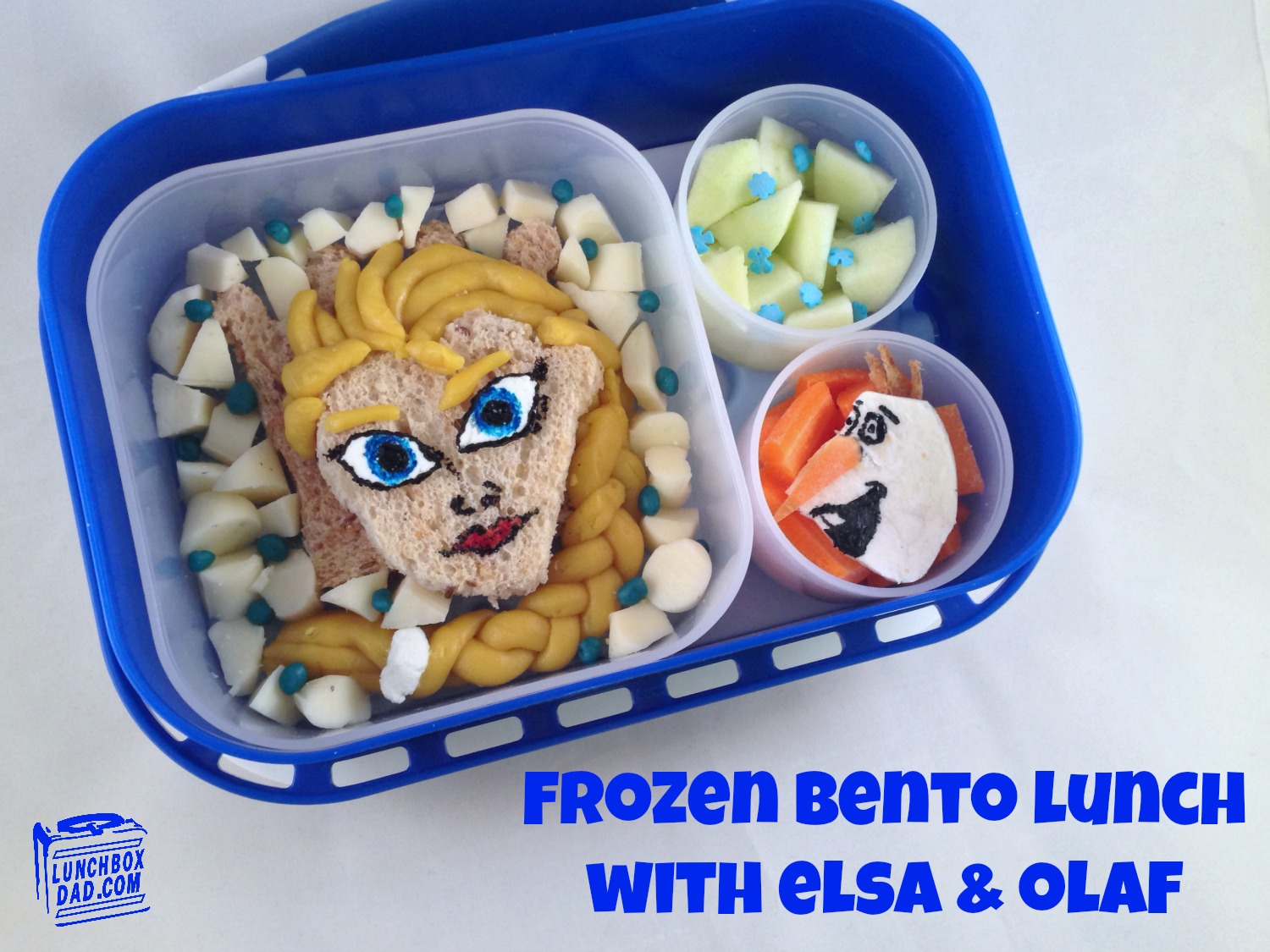 Frozen Bento Lunch With Elsa and Olaf