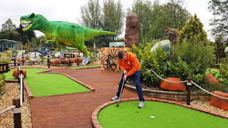 Jurassic Adventure Golf at Wyevale Bridgemere Garden Centre in Nantwich, Cheshire