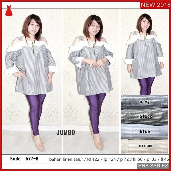 HNB231 Model dress Bordir Ukuran Besar Jumbo Modis BMG Shop