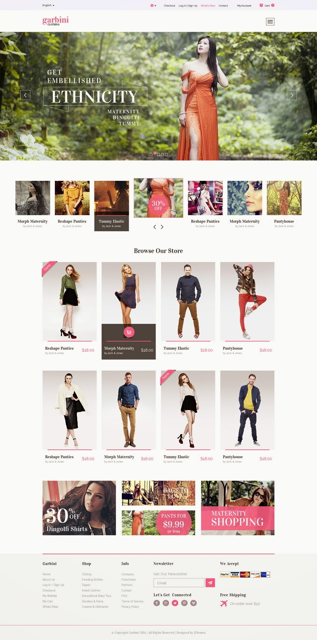 PSD clothes store theme