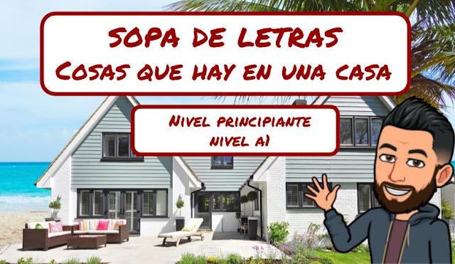 SOPA DE LETRAS - COSAS QUE HAY EN UNA CASA