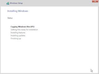 Install Windows Server - Installing Proses