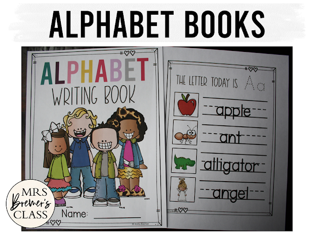 Alphabet writing books letter sounds phonics for Kindergarten First Grade