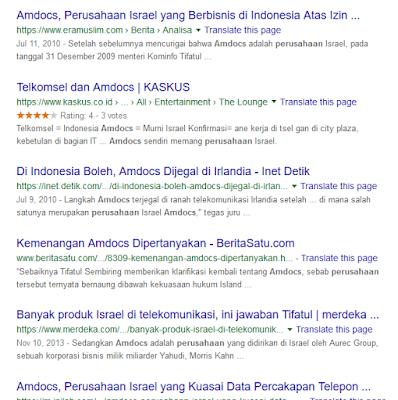 hubungan perusahana Amdocs israel dan indonesia.