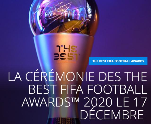 حفل جوائز Best FIFA Football ™ 2020 يوم 17 ديسمبر