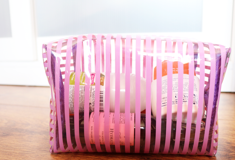 Superdrug Lilac Stripe PVC Bag Set review