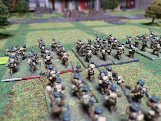 British infantry prepare to cross the canal