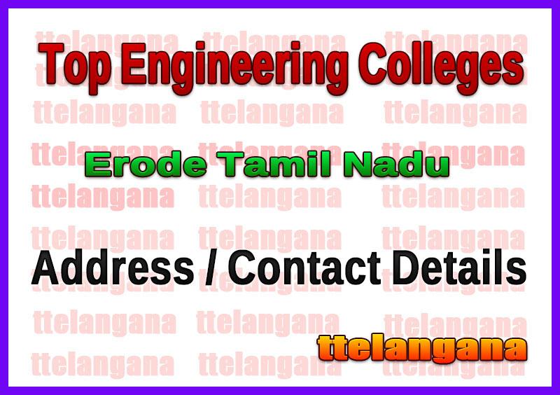 Top Engineering Colleges in Erode Tamil Nadu