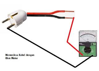 memeriksa kabel yang putus