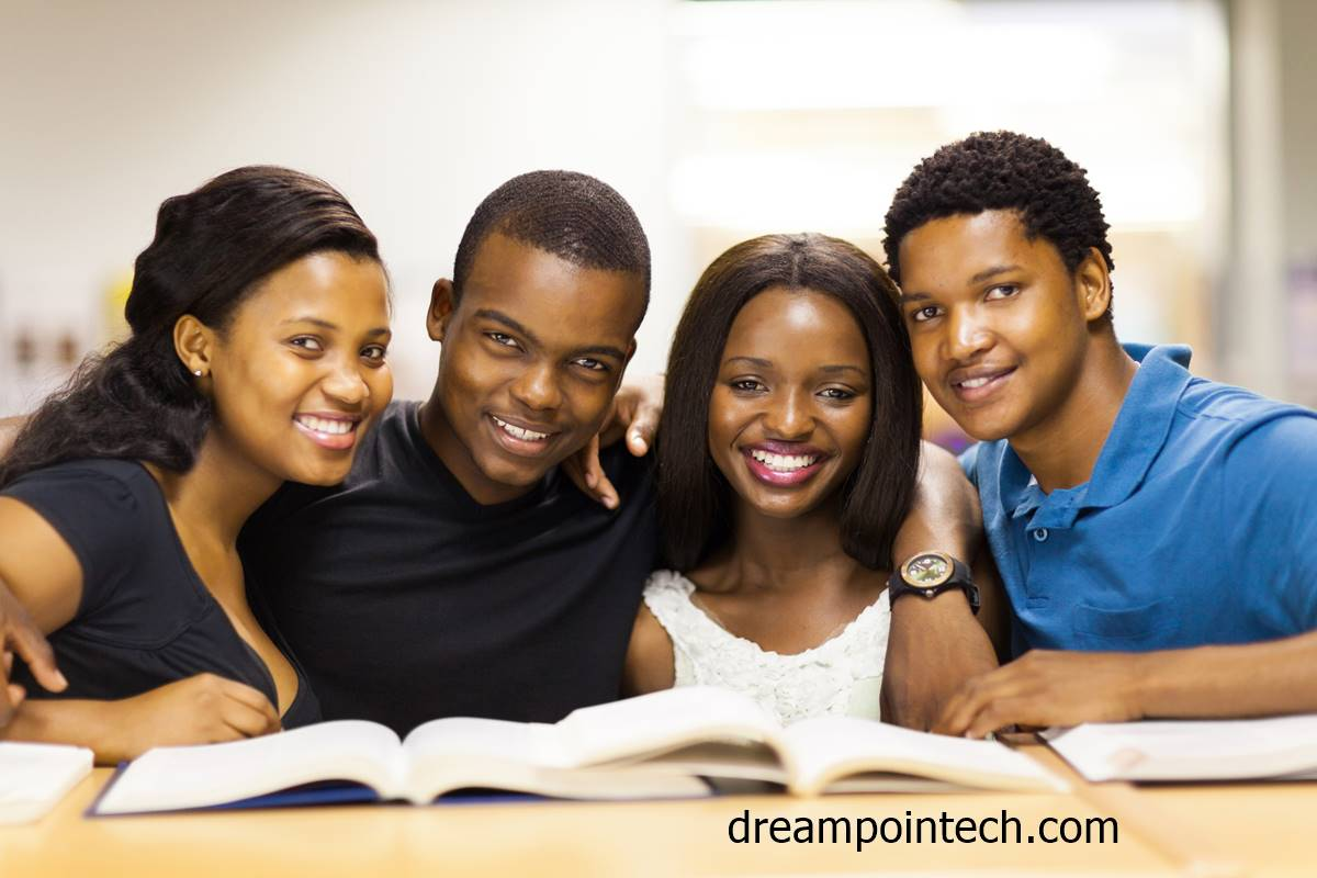 Students preparing and revising for the Cameroon GCE Board Examination
