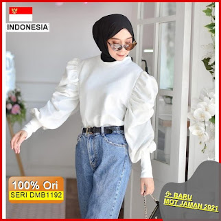 Dmb1192 Fashion Atasan Melva Blouse Balon Basic Top Hits Ootd Wanita Muslimah