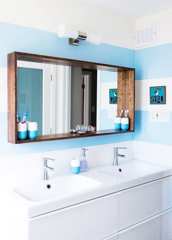 Οι ευκολότερες DIY Ραφιέρες με Καθρέφτη για το Μπάνιο