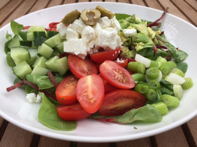 Feta Cheese Salad in a bowl