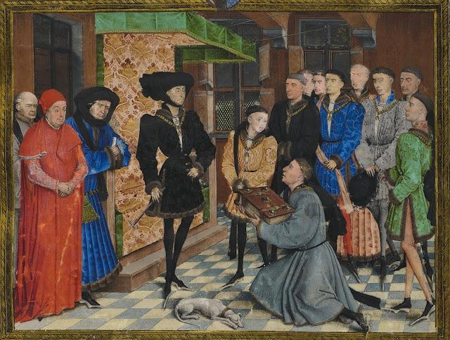 Philippe Le Bon Miniature, illustration des Chroniques de Hainaut.