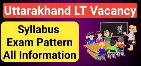 Uttarakhand Lt Vacancy 2020 - उत्तराखंड एलटी भर्ती 2020