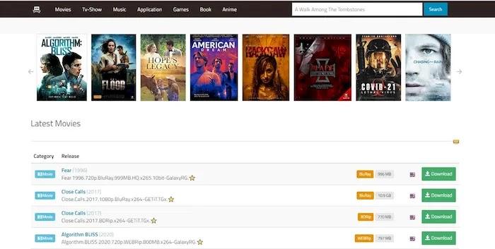 Popular and Active Torrent Download Sites 01Torrent