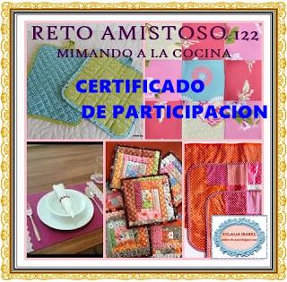 Certificado de participación en Reto Amistoso 122