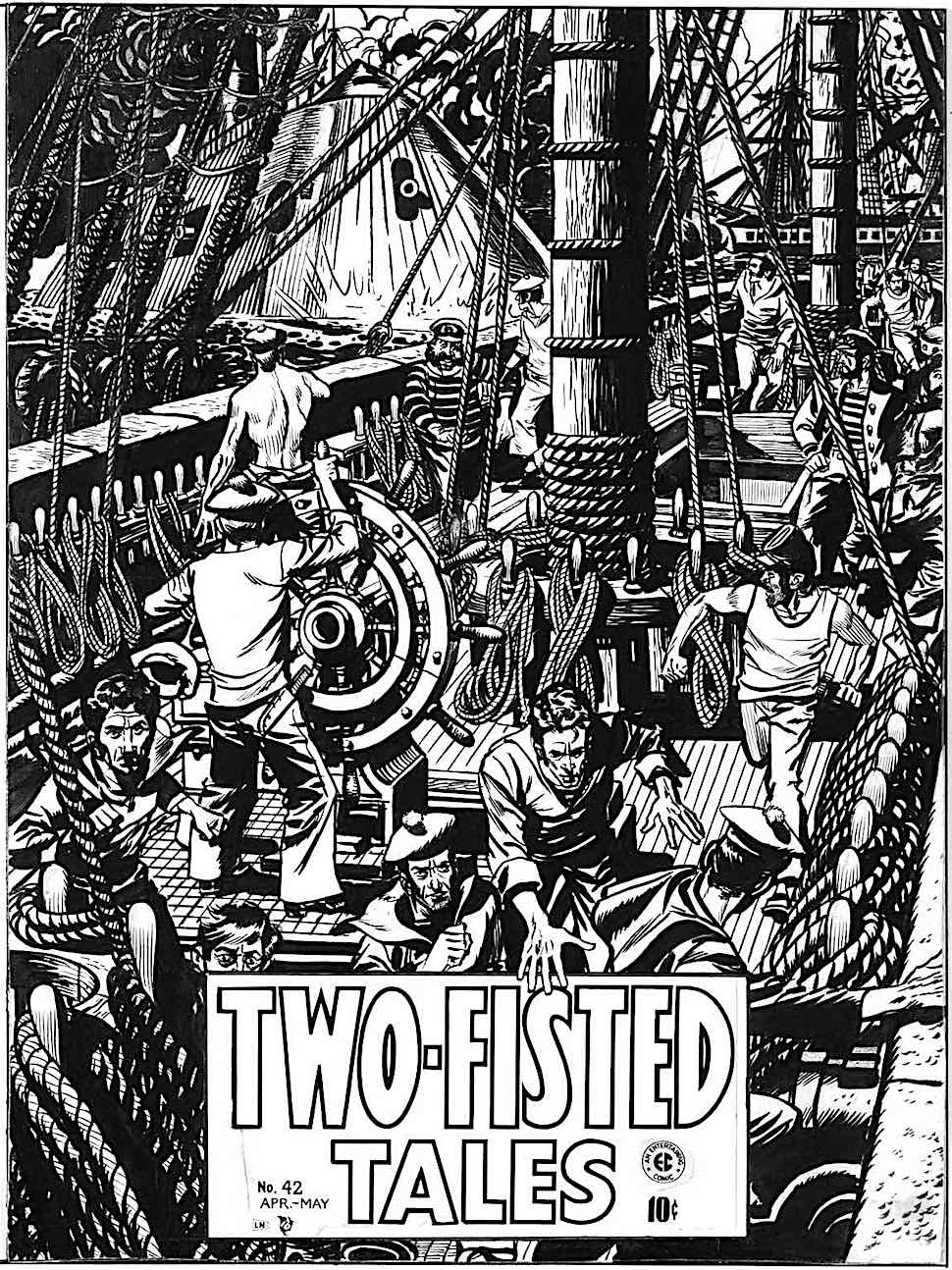a Wallace Wood story cover for Two Fisted Tales