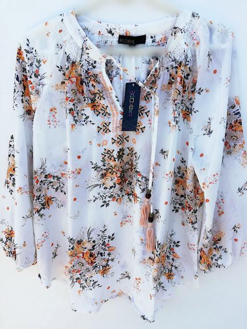 blouse, bluza, košulja, shirt, breezy, lightweight, prozračna, print, boho, uzorak, summer, ljeto