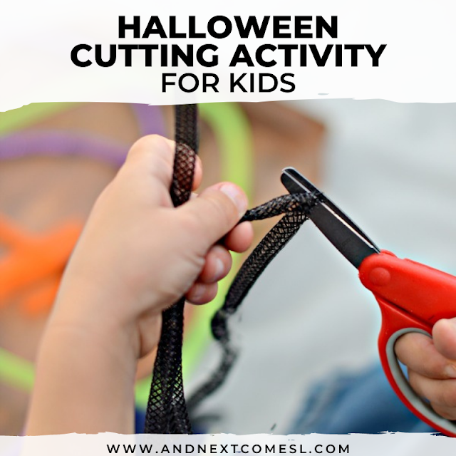 Halloween cutting activity for kids