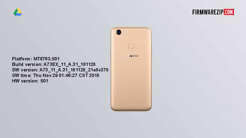 Oppo F5 CPH1723 Firmware Download Tested By UFI Latest Version