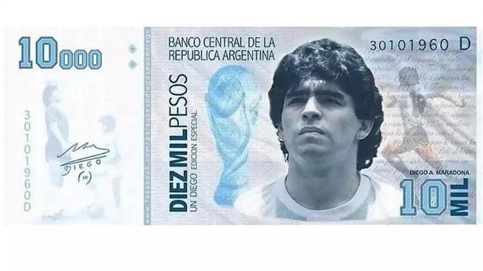 Lanata denunció un negocio millonario de billetes impresos con la cara de Diego Maradona