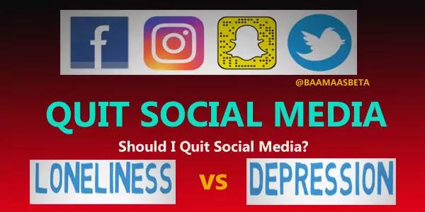 Reason behind Quitting Social media