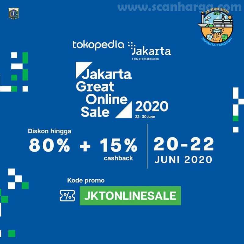 Tokopedia Promo Jakarta Great Online Sale 2020 dan Diskon HUT Jakarta Ke-493