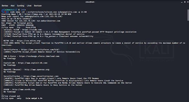Nmap Vulnerability Scanner