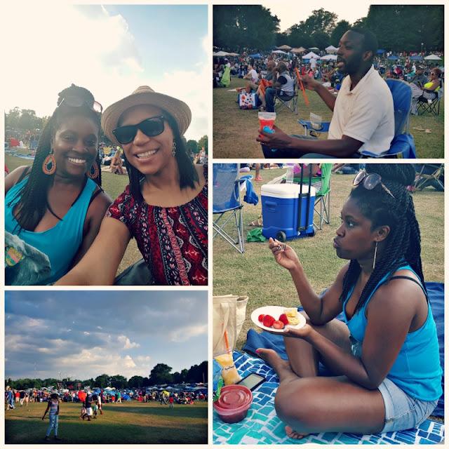 friends having fun at Piedmont park