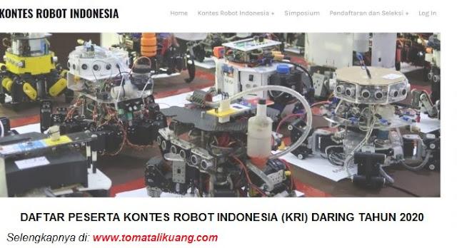 daftar peserta kontes robot indonesia kri tingkat wilayah tahun 2020 tomatalikuang.com