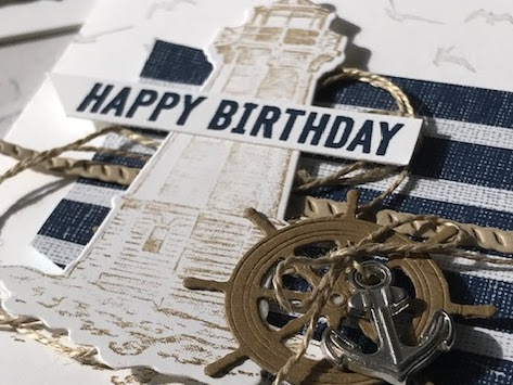 Sailing Home Masculine Birthday Card Stampin Up!