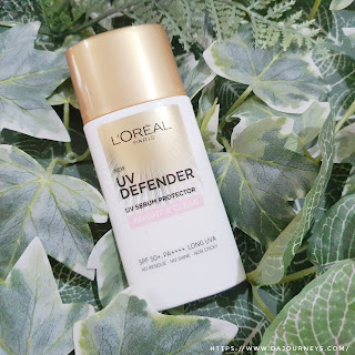 Review L'Oreal Paris UV Defender Daily UV Serum Protector Bright and Clear