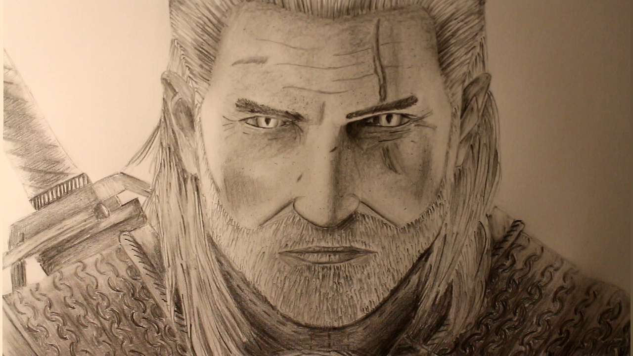 Drawwasp How To Draw Geralt Of Rivia From The Witcher 3 A