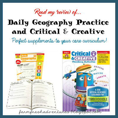 Evan-Moor Daily Geography and Critical & Creative Books~ A Product Review
