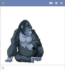 Gorilla sticker for Facebook