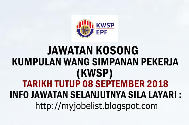 Jawatan Kosong KWSP September 2018