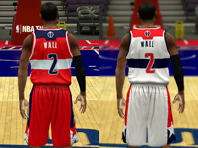 NBA 2K13 Wizards Realistic Jersey Colors NBA2K Mods