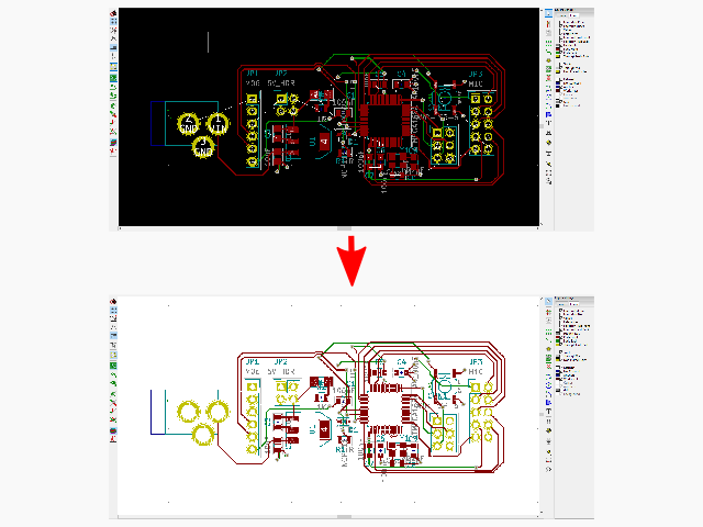 Mengganti Warna Background PCB Layout Kicad