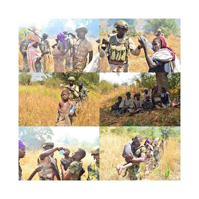 Breaking News: Army rescues Octogenarian, 4 children from Boko Haram captivity.