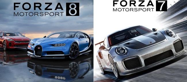 Comparison in Forza Motorsport 8 vs Forza Motorsport 7