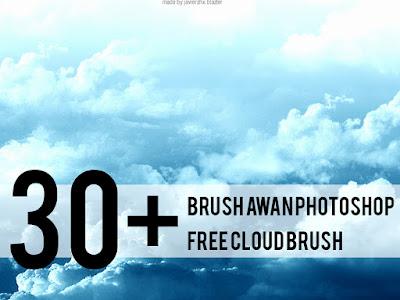 Brush salah satu alat photoshop yang penting diantara alat yang lainnya 30+ Brush Awan Photoshop   Free Cloud Brush