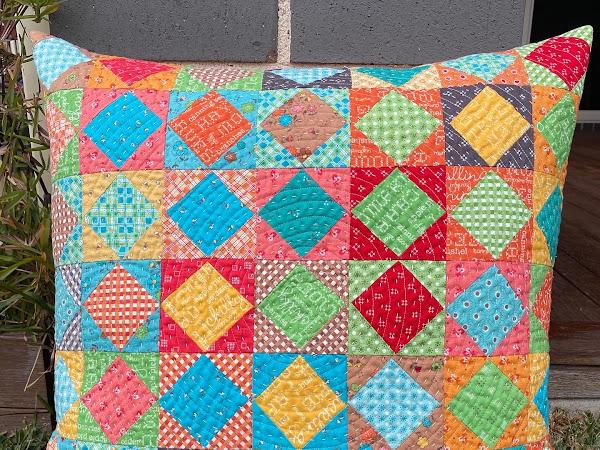 Autumn Love : A Quilted Cushion